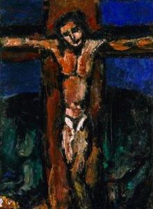 """The Crucifixion"" Georges Rouault (early 1920s) Minneapolis Institute of Arts"