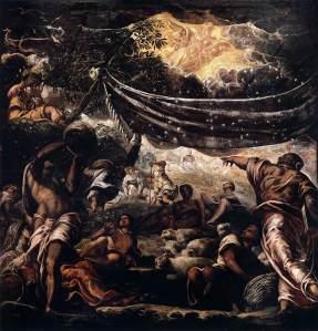 The Miracle of Manna Jacopo Tintoretto (c. 1577) Scuola Grande di San Rocco, Venice