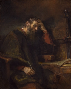 The Apostle Paul, Rembrandt van Rijn (and Workshop?) c. 1657 Widener Collection, National Gallery of Art Washington, DC