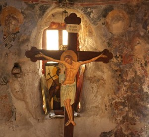 Crucifix in Orthodox Chapel