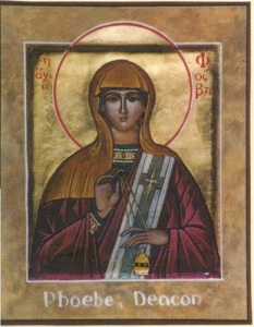 Phoebe (1st century) was a deaconess of the Church at Cenchreae, the port of Corinth.