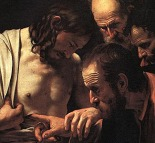 Detail - The Incredulity of Saint Thomas (Caravaggio, 1603)