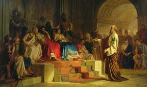 Paul on trial before Agrippa (Acts 26), as pictured by Nikolai Bodarevsky, 1875.