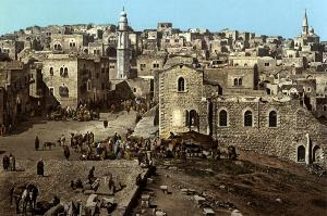 Bethlehem Market Place in 1900 Munir Alawi
