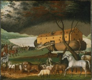 Noah's Ark (1846),  a painting by the American folk painter Edward Hicks Philadelphia Museum of Art
