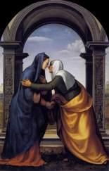 """""""Visitation"""" Mariotto Albertinelli, 1503 Galleria degli Uffizi, Florence."""