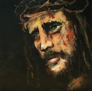 Crucified Jesus  by Carole Foret