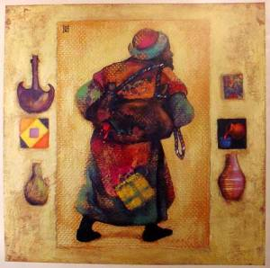 """""""The New and the Old Clothes. The New Wine and the Used Wineskins"""" by Kazakhstan Artist Nelly Bube."""