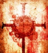 cross with blood
