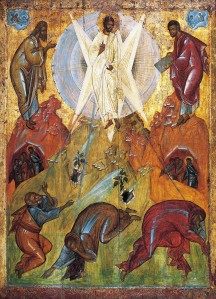 """The Saviour's Transfiguration"" an early-15th century icon, attributed to en: Theophanes the Greek from the Tretyakov Gallery, Moscow"
