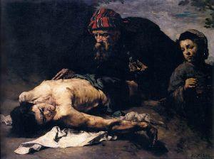 The Good Samaritan Théodule-Augustin Ribot, before 1870  Musée des Beaux-Arts de Pau Pau, Aquitaine, France