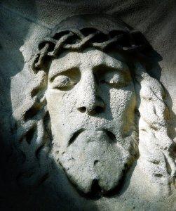 Jesus stone face