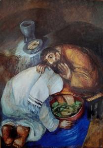 Jesus Washing Peter's Feet by Sieger Koder