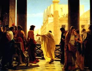 Jesus and Pontius Pilate (Ecce homo!) By Antonio Ciseri (1821–1891). Date: painted in 1871.