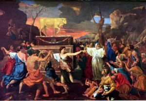 The Adoration of the Golden Calf by Nicolas Poussin, 1633 National Gallery, London