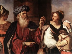 'Abraham Casting Out Hagar and Ishmael' Giovanni Francesco Barbieri, aka Il Guercino, c. 1657