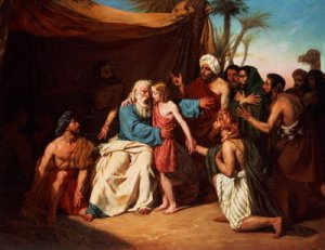 """""""Jacob refuses to release Benjamin"""" Adolphe Roger, 1829"""