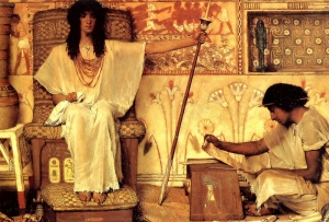 Joseph Overseer of the Pharoahs Granaries, by Sir Lawrence Alma-Tadema, 1874