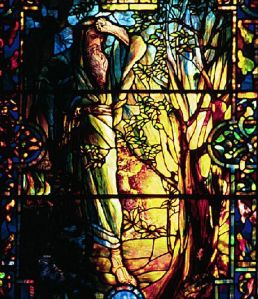 Moses and the Burning Bush Louis Comfort Tiffany