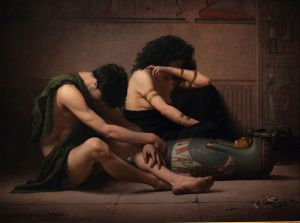 Lamentations over the Death of the First-Born of Egypt by Charles Sprague Pearce (1877) Smithsonian American Art Museum