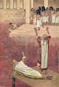 The First Plague: Water Is Changed into Blood James Tissot, ca. 1903 Christian Theological Seminary Indianapolis, IN