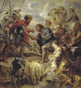 The Reconciliation of Jacob and Esau Peter Paul Rubens, 1624 Scottish National Gallery, Edinburgh