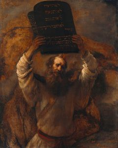 Moses Smashing the Tablets of the Law Rembrandt, 1659 Gemäldegalerie, Berlin