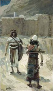 """Joshua and the Angel before Jericho"" James Jacques Joseph Tissot, 1896-1900 New York City, Jewish Museum"