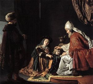 Hannah Giving Her Son Samuel to the Priest Jan Victors, 1645 Staatliche Museen, Berlin