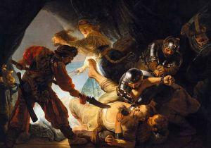 The Blinding of Samson Rembrandt, 1636
