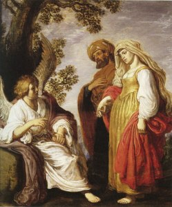 The Angel with Manoah and His Wife Pieter Lastman, 1617 Collection of Alfred and Isabel Bader, Milwaukee