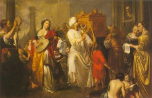 """David brings the """"Ark of the Covenant"""" into Jerusalem"""