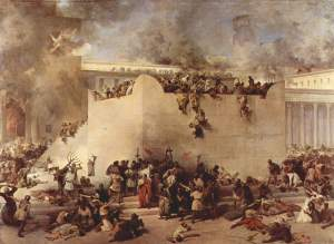 The destruction of the Temple of Jerusalem Francesco Hayez, 1867 Gallerie dell'Accademia, Venice