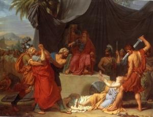 Nabuchodonosor Has Zedekiah's Children Killed before his Eyes François-Xavier Fabre, 1787