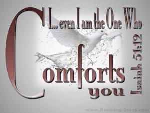 Isaiah 51-12 God of Comfort-gray