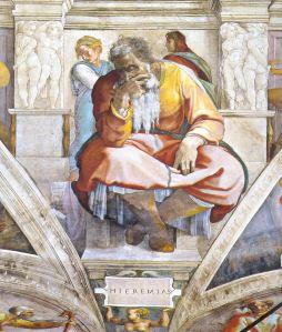 The Prophet Jeremiah Michelangelo, 1512 Sistine Chapel, Vatican City, Italy
