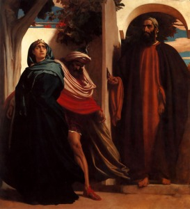 Jezebel and Ahab Met by Elijah Frederic Leighton, 1862