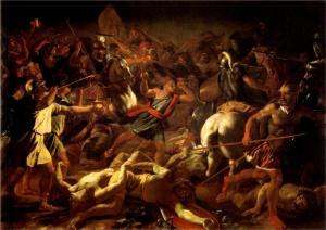 Battle of Gideon Against the Midianites Nicolas Poussin, 1625-1626 Vatican Museum Pinacoteca, Vatican