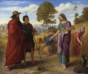 """""""Ruth in Boaz's Field"""" Julius Schnorr von Carolsfeld, 1828 National Gallery, London"""