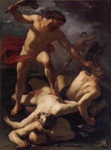 Sansón masacra a los filisteos Orazio Riminaldi, 1625 Museum of Grenoble