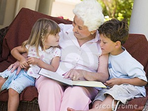 Reading-with-grandma