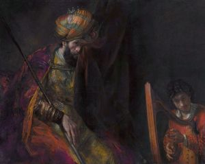 Saul and David by Rembrandt, c. 1650 Royal Picture Gallery Mauritshuis