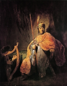 David playing the harp before Saul Rembrandt van Rijn, 1629 - 1631 Städelsches Kunstinstitut und Städtische Galerie, Frankfurt am Main