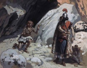 'David and Saul in the Cave' James J. Tissot (1896-1902) The Jewish Museum, New York.