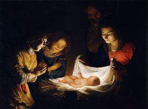 Adoration of the Child Gerard van Honthorst, ca. 1620 Galleria degli Uffizi, Florence
