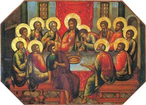 The Last Supper Simon Ushakov, 1685 The Sergiev Posad State History and Art Museum-Preserve Moscow