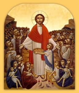 Christ Feeding the Multitudes Coptic icon