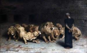 Daniel in the Lion's Den Briton Riviere - 1872 Walker Art Gallery, Liverpool