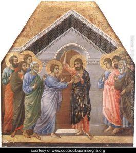 Doubting Thomas Duccio Di Buoninsegna, 1308-11 Museo Dell'Opera Del Duomo Siena, Italy