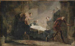 """Jesus raises the widow's son at Nain"" Johann Zick, 1752 Harvard Art Museums/Busch-Reisinger Museum Harvard University Art Museums"